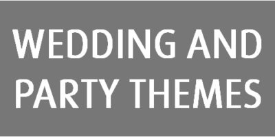 27 Wedding and Party Themes