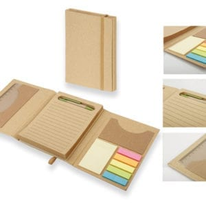 Notepad with sticky notes and ball pen 93792