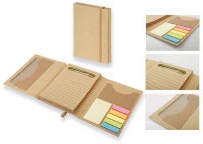 NOTEPAD WITH STICKY NOTES AND BALL PEN