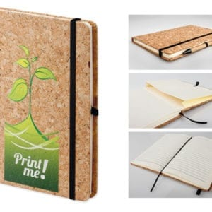NOTEPAD WITH THE CORK COVER 53409