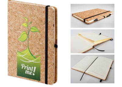NOTEPAD WITH THE CORK COVER